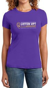 Listen Up! Purple Audiology T-Shirt