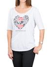 Communication Heart ¼ Sleeve White T-Shirt