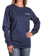 ASHA Navy Long Sleeve Shirt