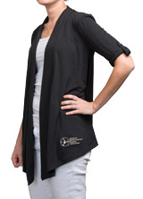 ASHA Black Cardigan Shrug