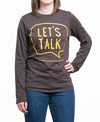 Let's Talk Brown Long Sleeve Shirt