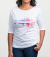 Rainbow Sound Wave ASHA T-Shirt
