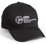 ASHA Black Baseball Hat