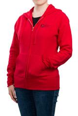 Red ASHA Full-Zip Hoodie