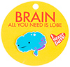 I Heart Guts Brain Lapel Pin