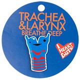 I Heart Guts Trachea Lapel Pin