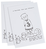 A Reminder Greeting Card, Set of 3