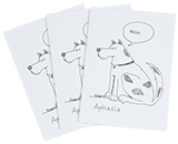 Aphasia Greeting Card, Set of 3