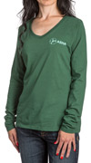 ASHA Green V-neck Long Sleeve