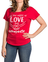 Love Audiologists Red T-shirt
