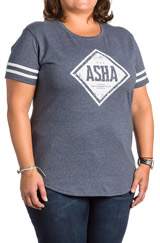 ASHA Heathered Navy T-Shirt