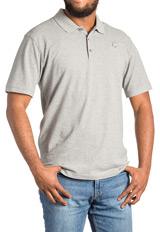 Men's Gray ASHA Polo Shirt