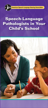 Speech-Language Pathologists in Your Child's School