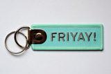 FriYAY Embroidered Keychain