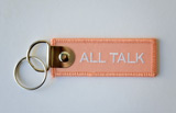All Talk Embroidered Keychain