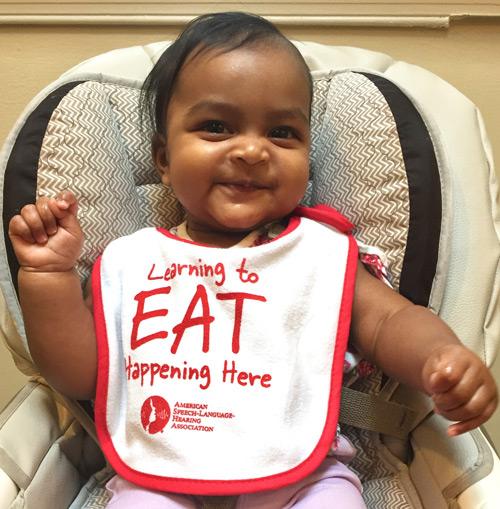 ASHA Learning to Eat Baby Bib