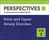 Clinical and Research Topics in Voice SIG 3