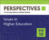 Perspectives, SIG 10, Vol. 1, Part 1, 2016