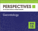 SIG 15 Perspectives Vol. 19, No. 1, January 2014