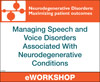 Managing Speech and Voice  Disorders Associated With  Neurodegenerative Conditions