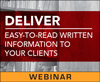 Deliver Easy-to-Read Written Information to Your Clients (Live Webinar)