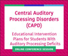 Educational Intervention Plans for Students With Auditory Processing Deficits