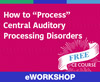 "How to ""Process"" Central Auditory Processing Disorders (On Demand Webinar)"