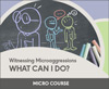 Witnessing Microaggressions: What Can I Do?