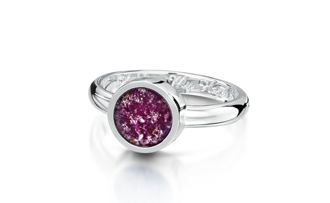 Tribute Ring Silver Purple