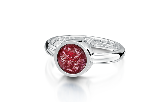 Tribute Ring Silver Ruby