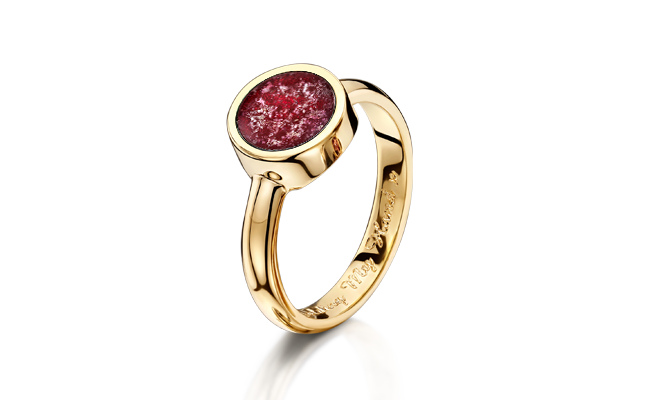 Tribute Ring Gold Ruby
