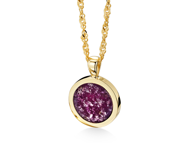 Round Pendant Gold Purple