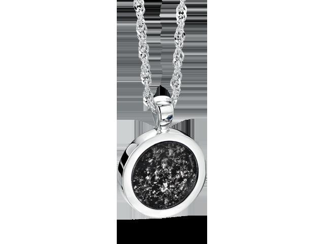 Round Pendant Silver Black
