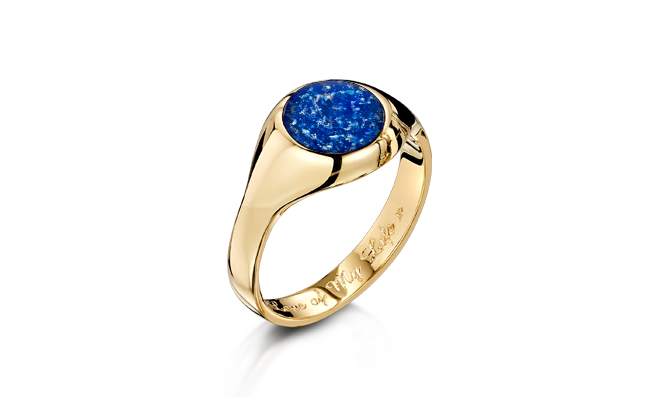 Signet Ring Gold Blue