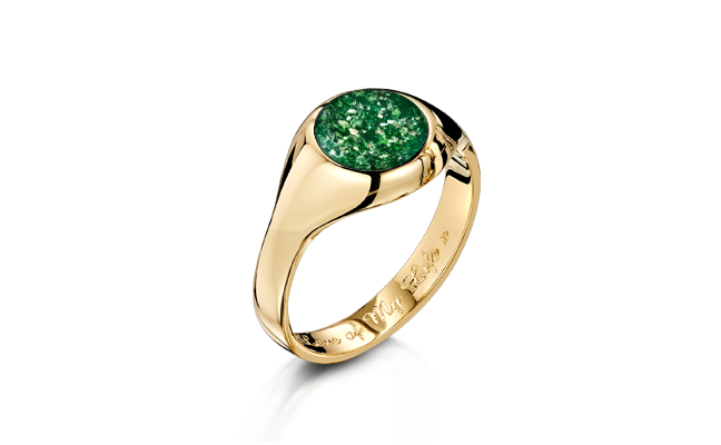Signet Ring Gold Green