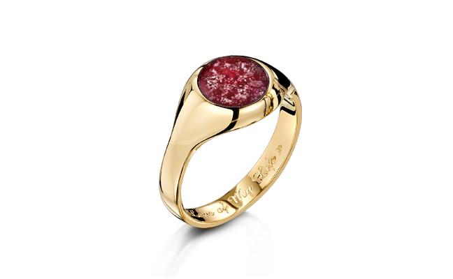 Signet Ring Gold Ruby