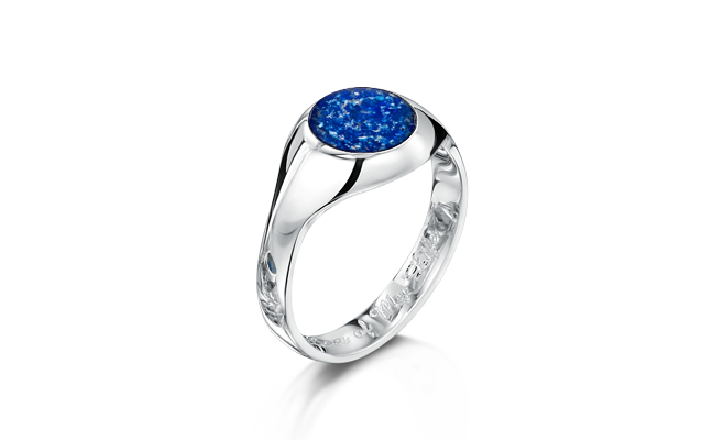Signet Ring silver Blue