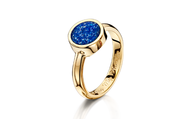 Tribute Ring Gold Blue