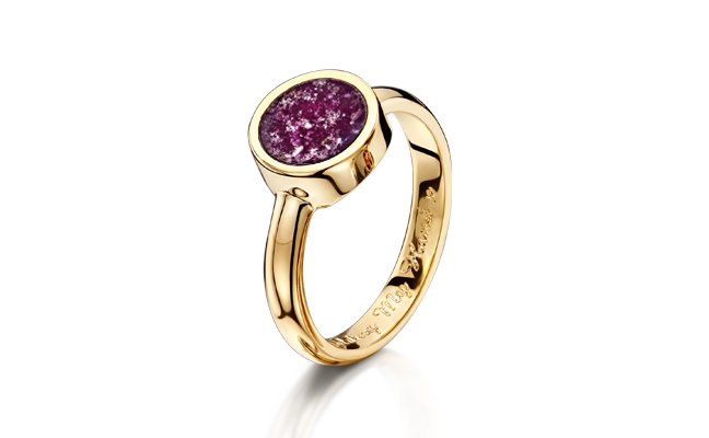 Tribute Ring Gold Purple