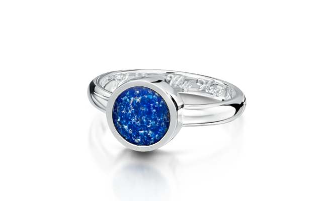 Tribute Ring White Gold Blue