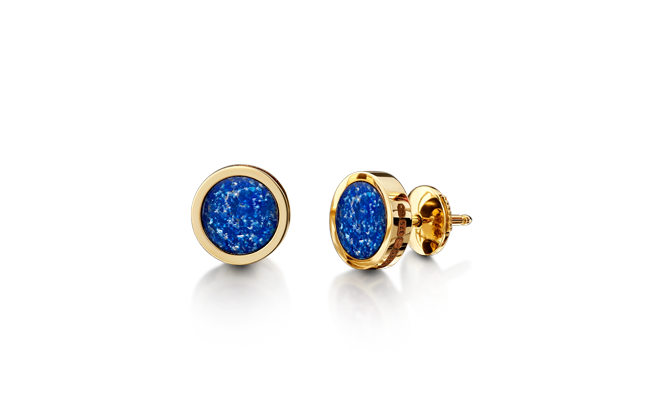 Earrings Gold Blue