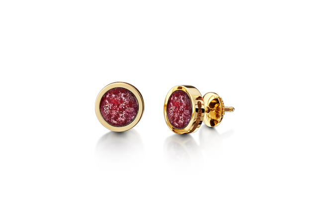 Earrings Gold Ruby