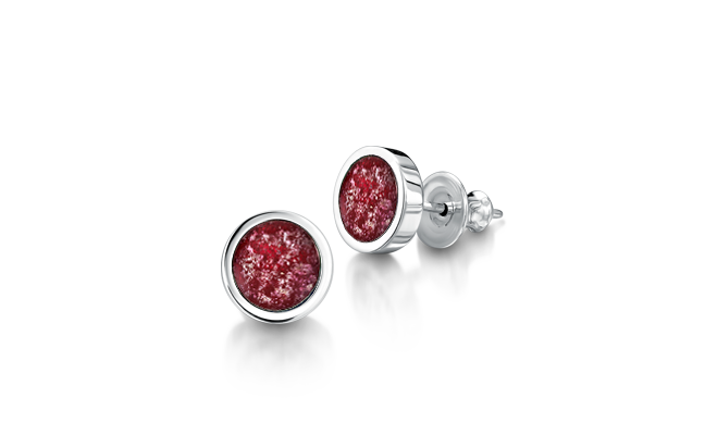 Earrings Silver Ruby