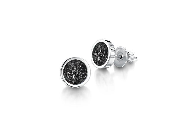 Earrings White Gold Black