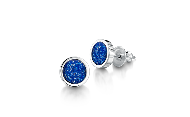 Earrings White Gold Blue