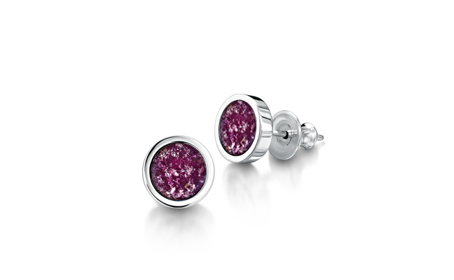 Earrings White Gold Purple