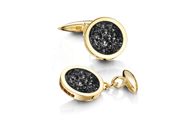 Cufflinks Gold Black