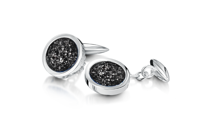 Cufflinks White Gold Black