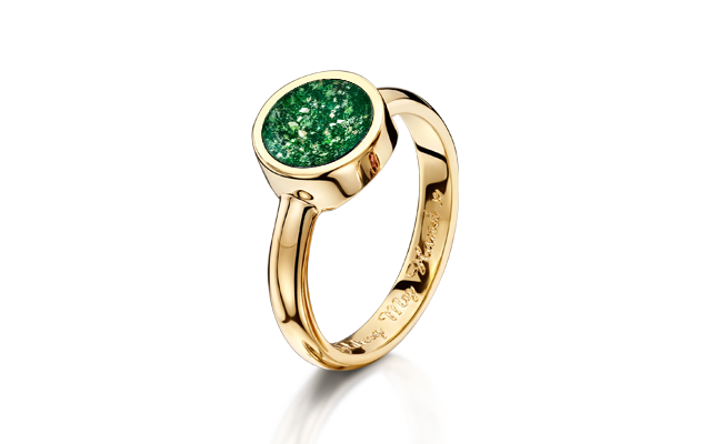 Tribute Ring Gold Green