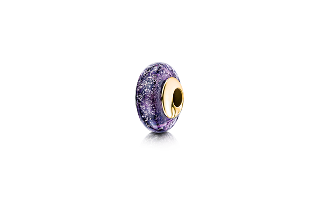Charm Bead Purple Gold